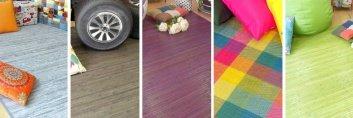Variaciones de alfombras de bambú