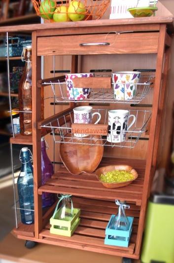 Mueble carrito con cestas para cocina