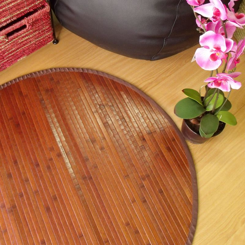 Alfombra de bambú chocolate