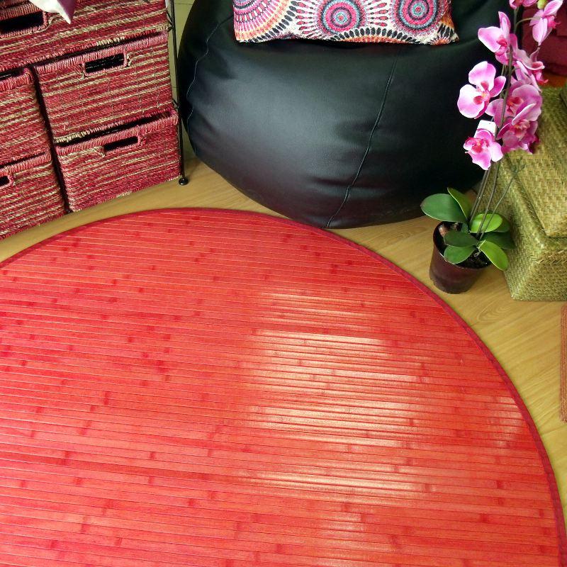 Alfombras de bambú rojas