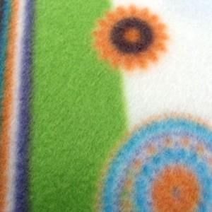 Detalle de la textura de las sábanas polares
