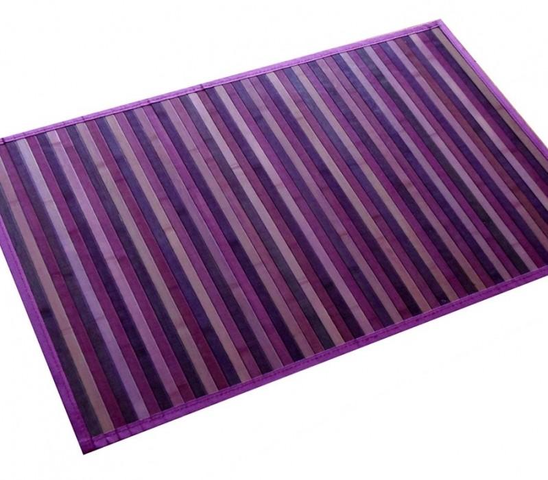 Alfombras de bambú violeta