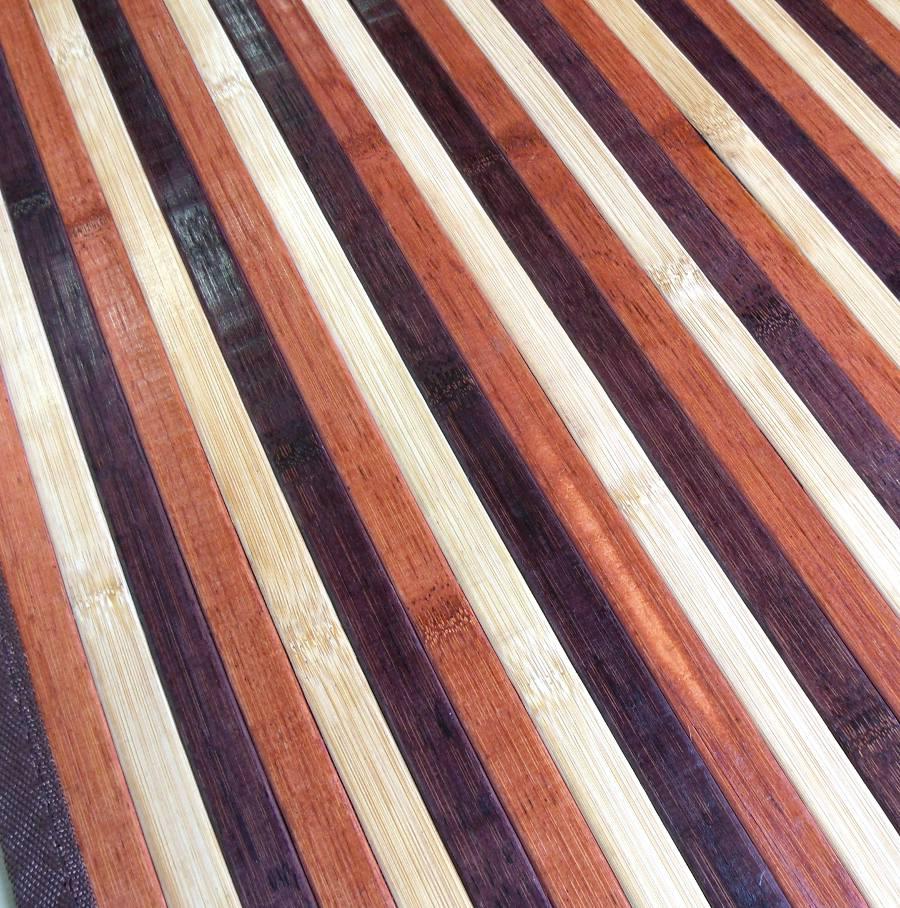 Alfombra de bambú colores