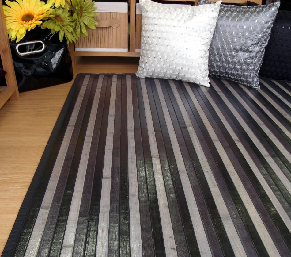 Ya est n aqu las nuevas alfombras de bamb multicolor - Alfombra de bambu ...