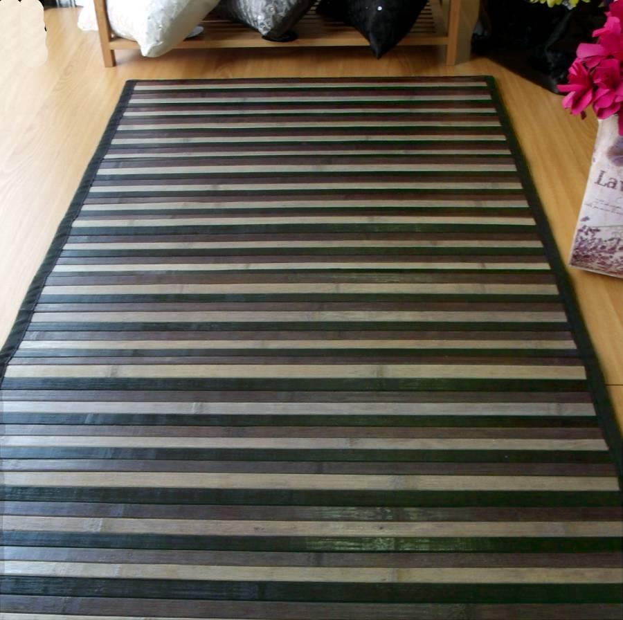 Alfombra de bambú para pasillos negra