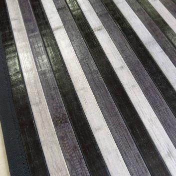 Alfombra de bambú negra