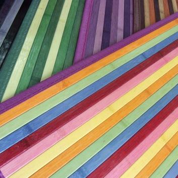 Alfombra de bambú de varios colores