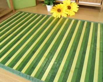 Alfombra pasillera de bambú verde