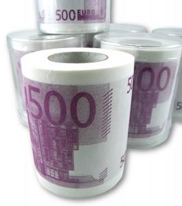 Papel higiénico con billetes