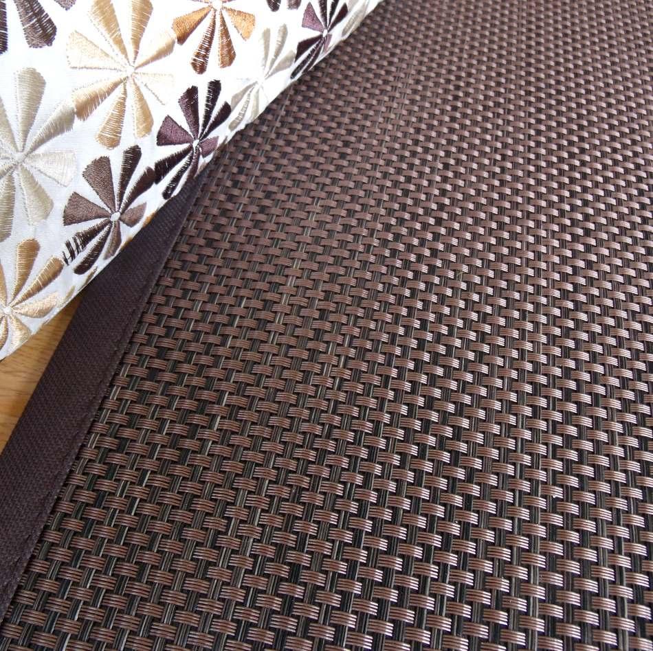 Ampliación de la alfombra chocolate