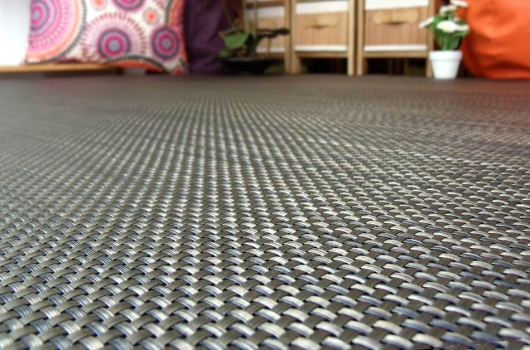 Trenzado de la alfombra de vinilo