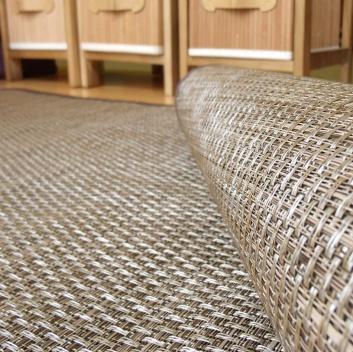 Detalle de la alfombra de vinilo
