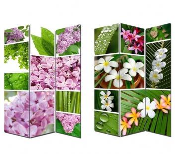 Biombo de flores