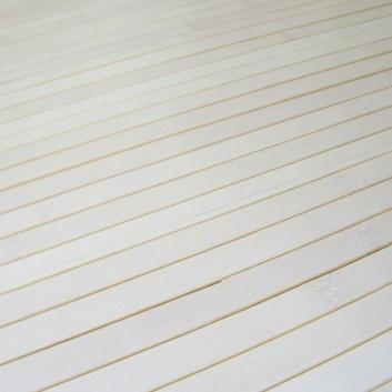Alfombra de bambú en color blanco