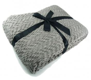Manta de sofá gris
