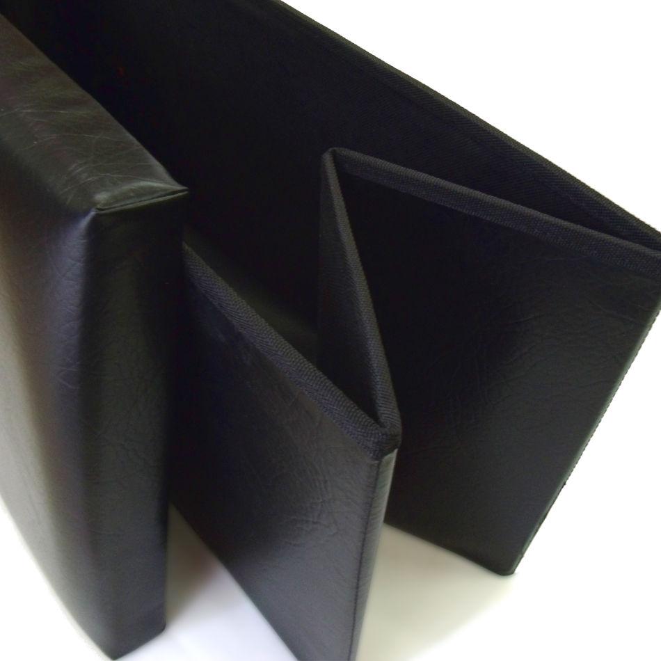 Puff polipiel negro