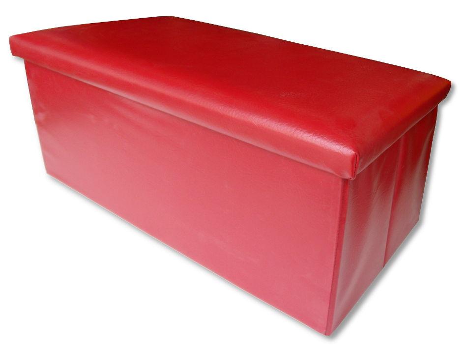Puff arcón rojo