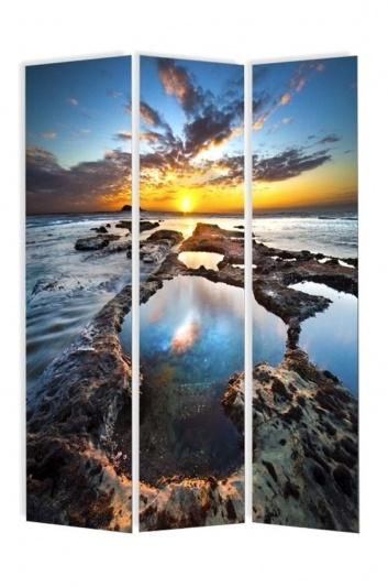 Biombo con mar y rocas