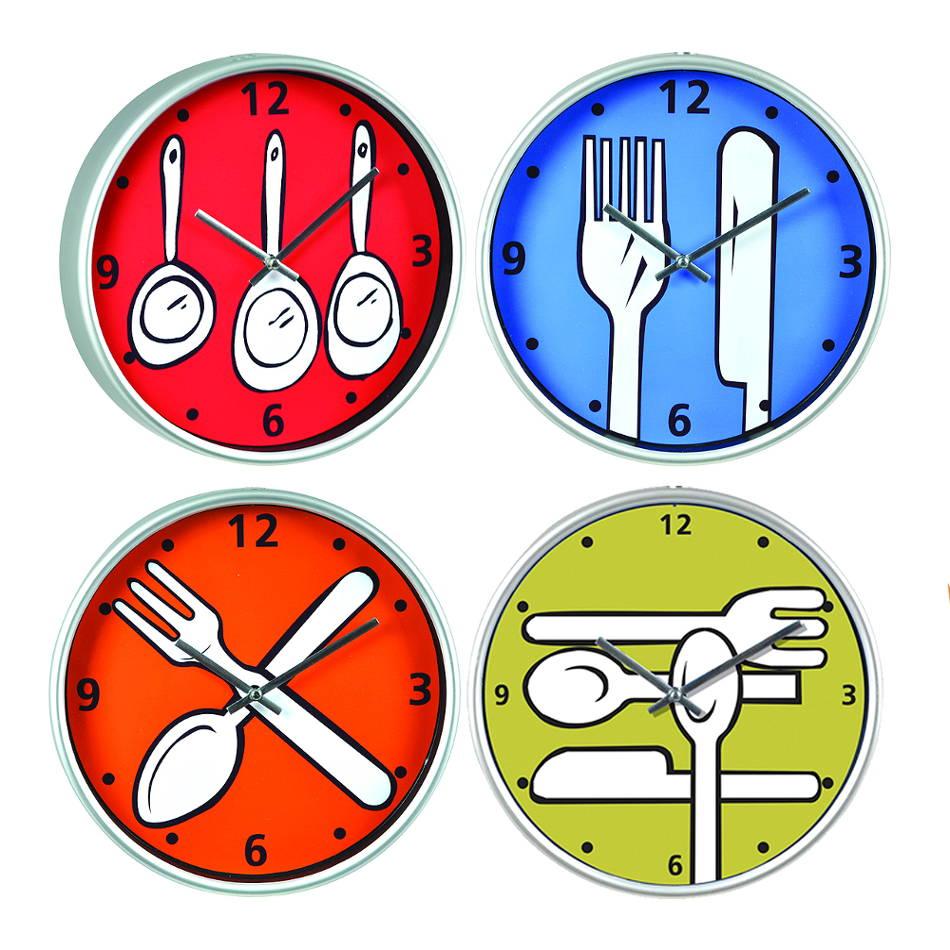 Relojes de cocina de colores