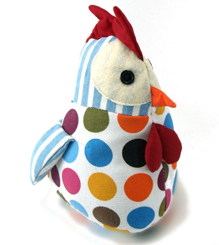 Tope sujetapuertas con forma de gallina