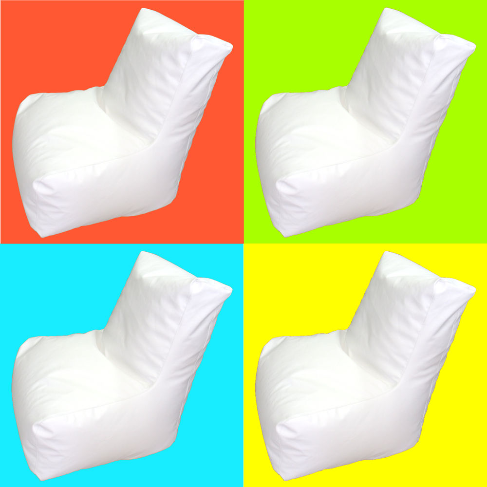 Puff blanco