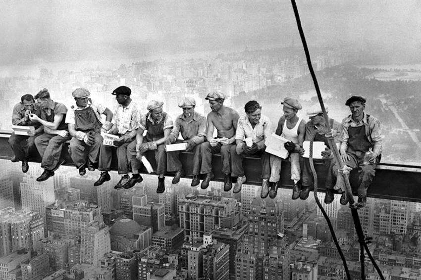Obreros en el rascacielos