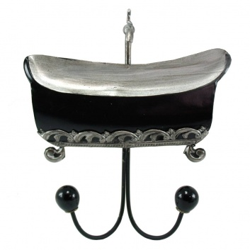 Perchero metálico bañera