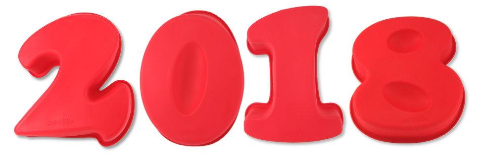 Moldes de silicona con forma de números