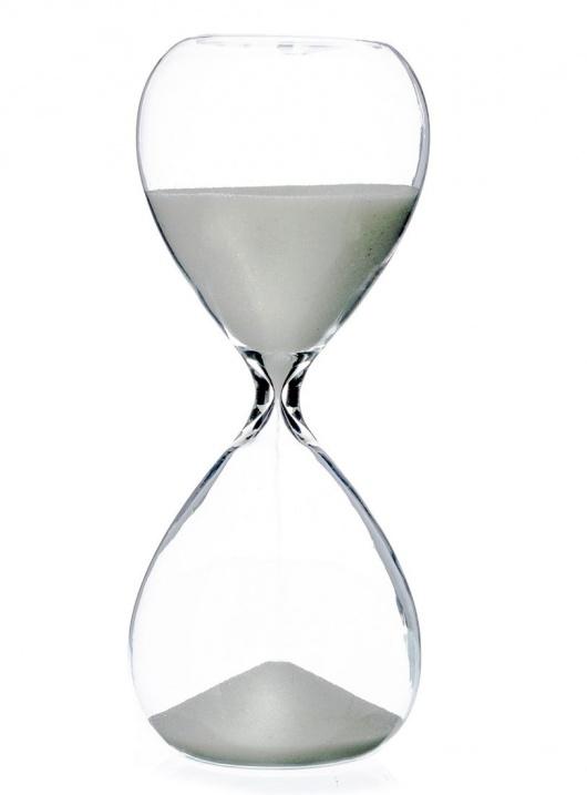 Reloj de cristal y arena