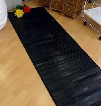 Pasillera de madera negra