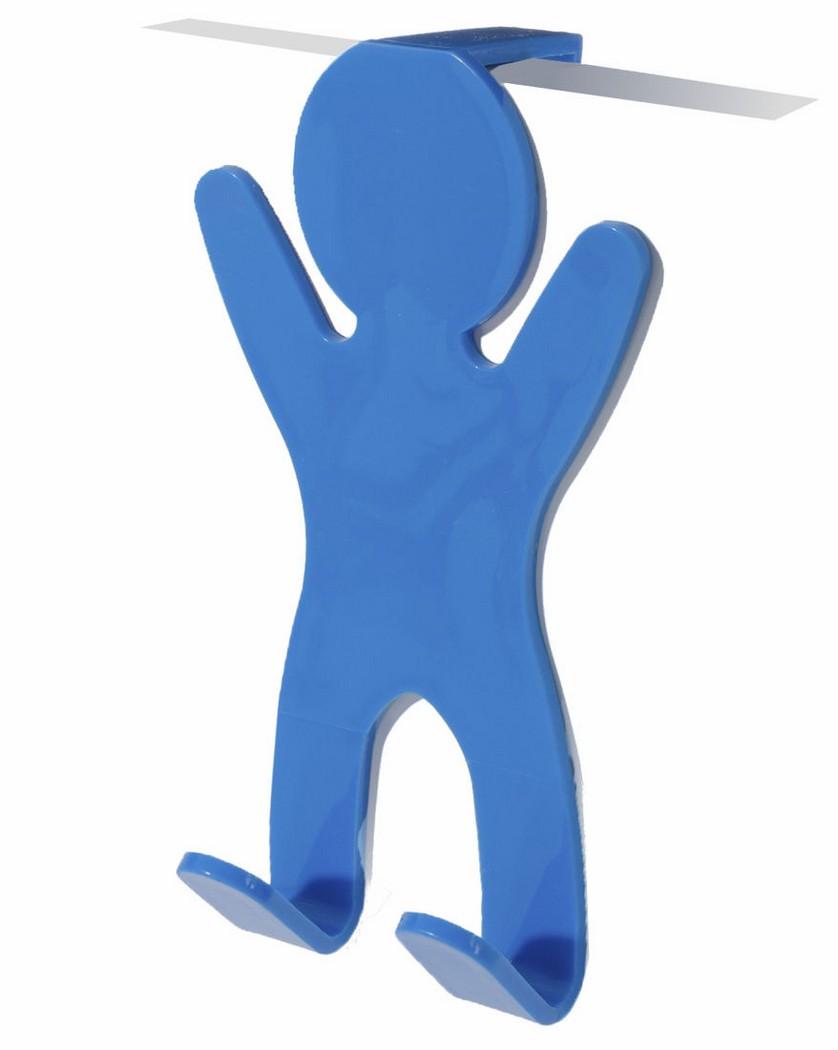 Colgador para puertas azul