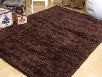 Alfombra reversible chocolate