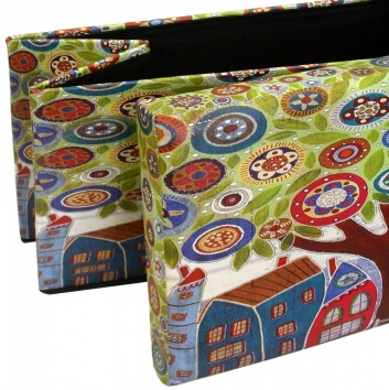 Puff plegable estampado