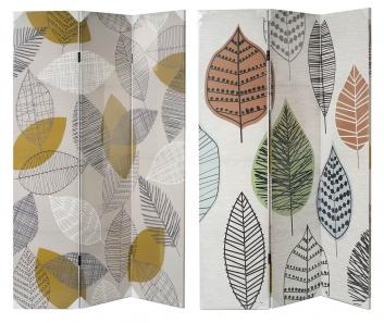 Biombo de lienzo de tres hojas