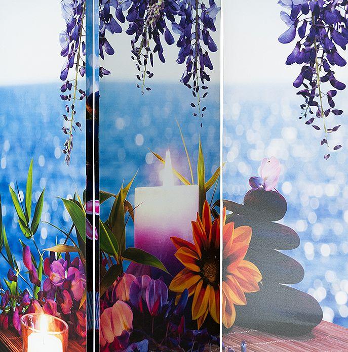 Biombo de lienzo florido