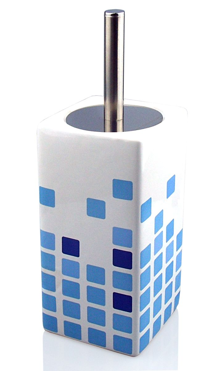 Escobillero con decoración de azulejos
