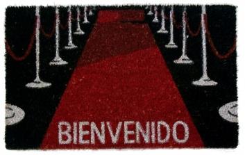 Felpudo estampado alfombra roja