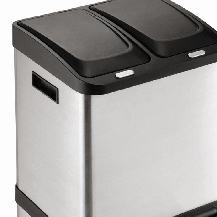 Cubo de acero de reciclaje
