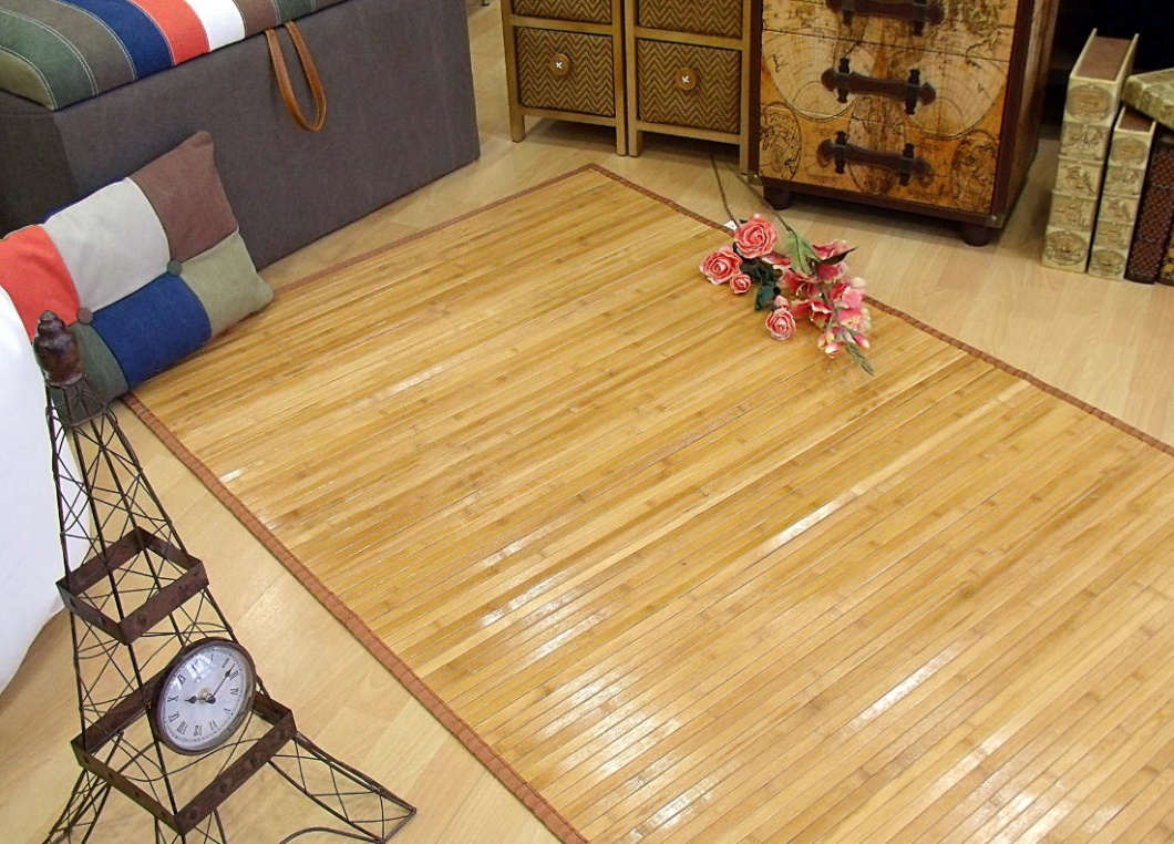 Alfombra de bambú de pasillo