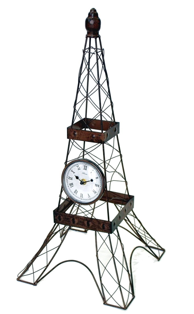 Reloj con forma de Torre Eiffel