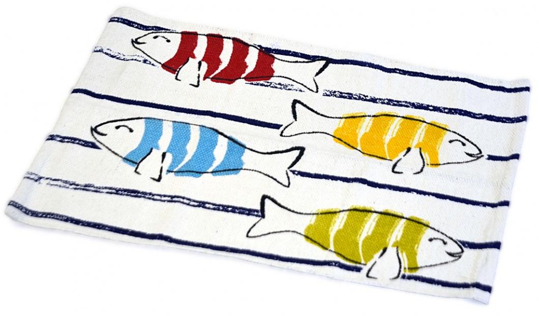 Alfombra estampada con peces