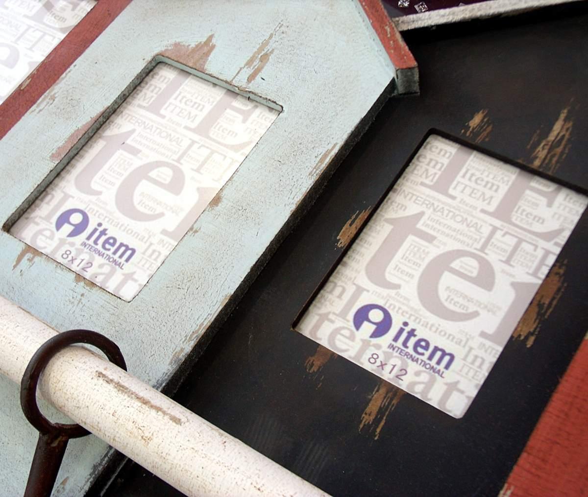 Perchero portafotos de madera
