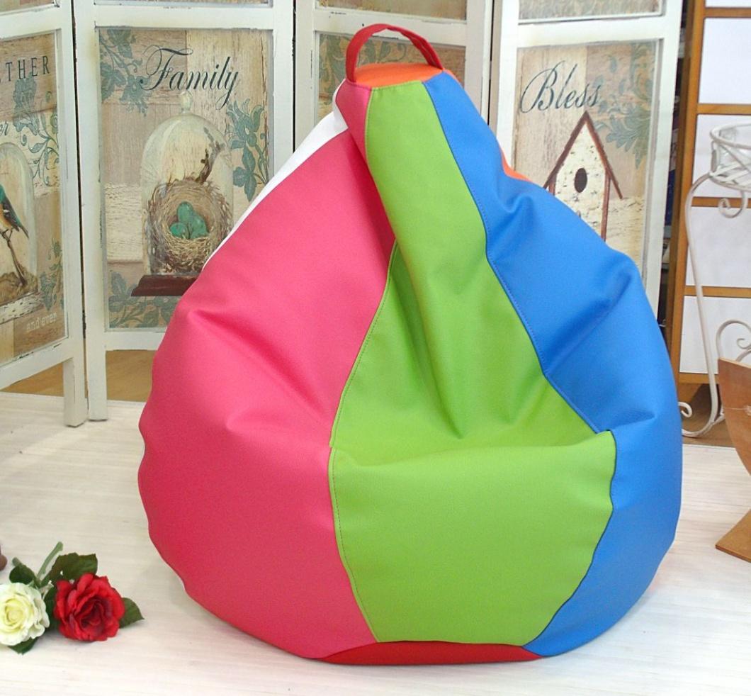 Puff pera multicolor