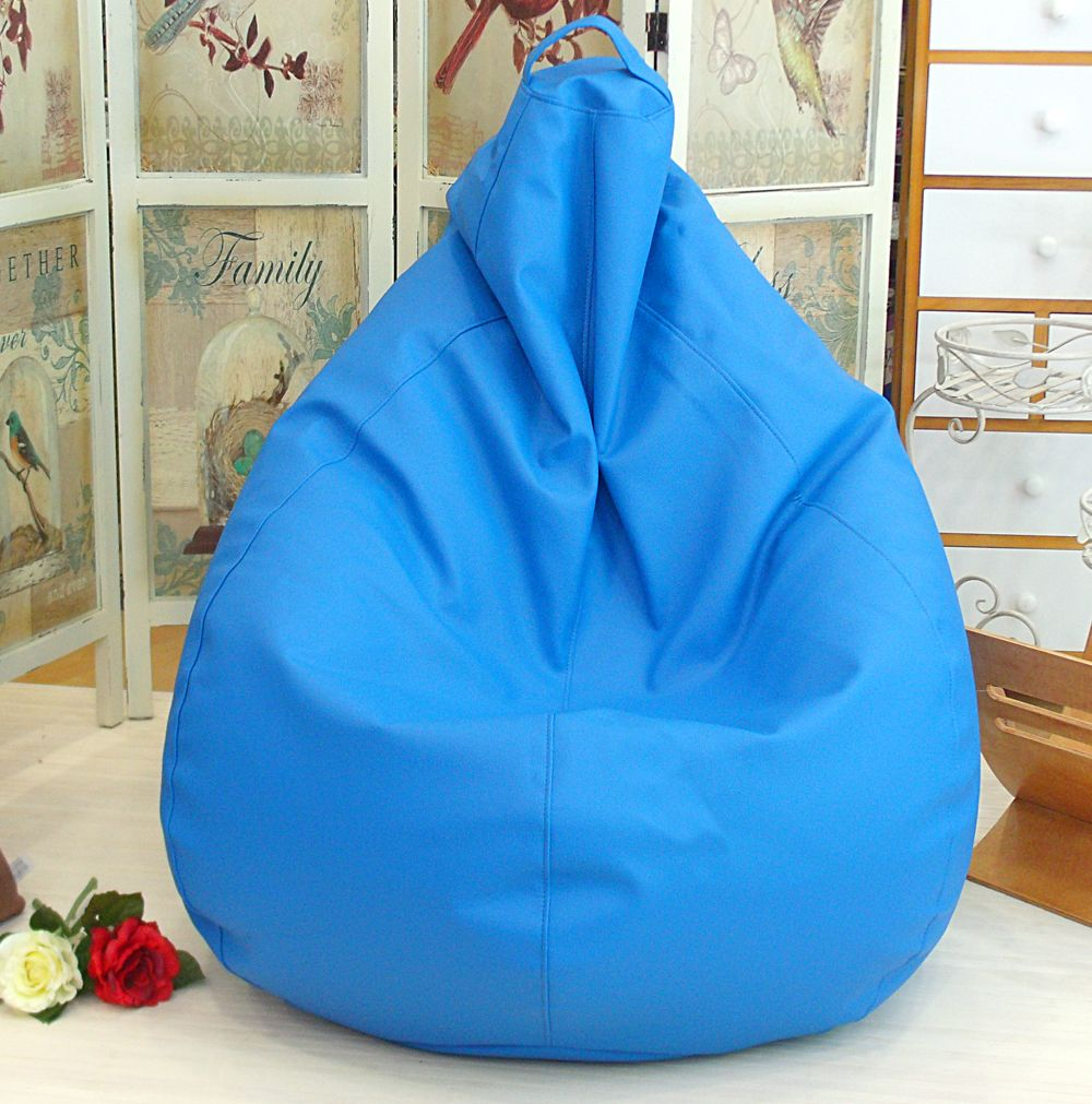Puff blando pera azul