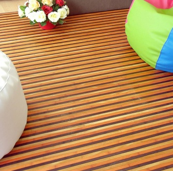 Alfombra bambú rayas