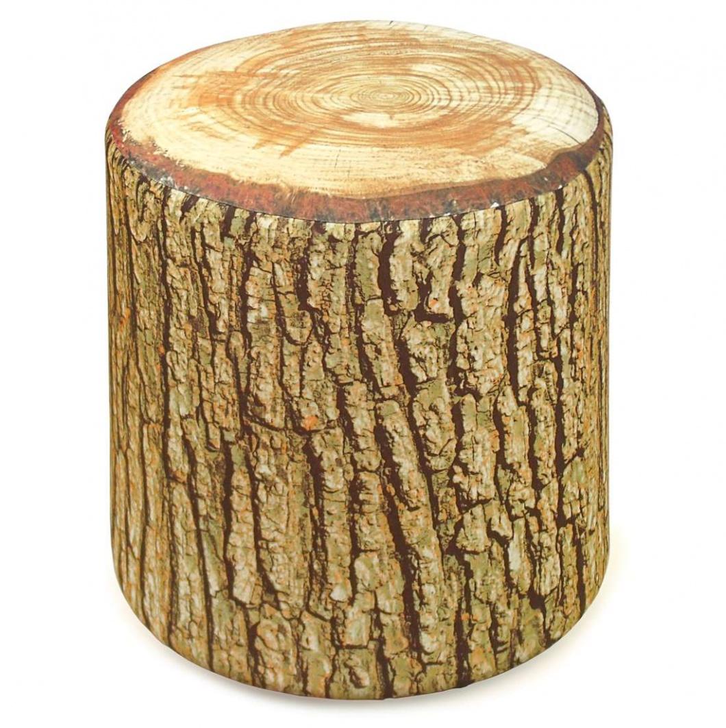 Puff asiento con forma de tronco de árbol