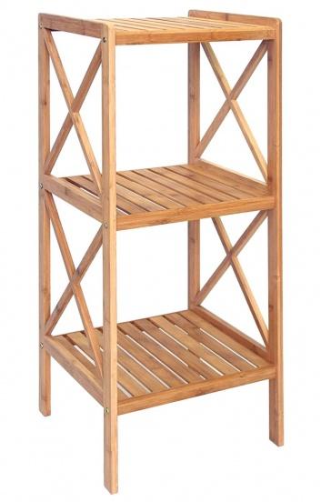 Estante de bambú de tres baldas