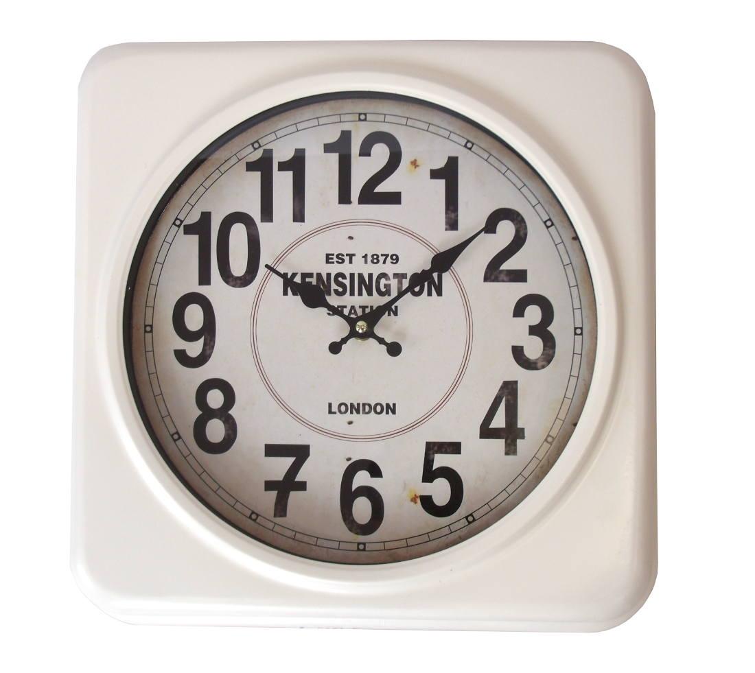 Reloj de pared color crudo