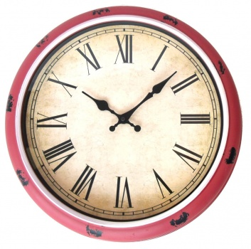 Reloj de pared redondo granate
