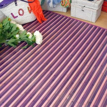 Alfombra de bambú lila